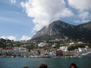 Capri coastline on the way back!  Sorry for he heads in the foreground, didn't want to mess up dimensions with cropping.